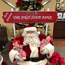 El Campo Christmas Open House Santa with Twins